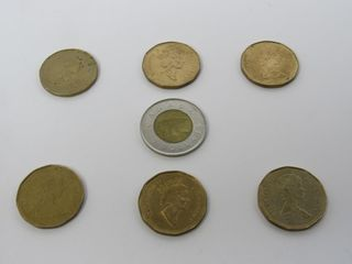 (7) Canada Assorted Coins