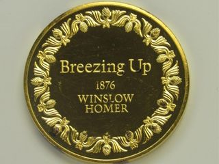 24K Over Sterling of Winslow Homer Coin