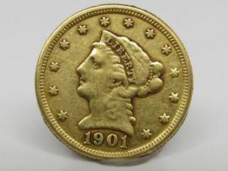 1901 Liberty Head $2.50 Gold Quarter Eagle Estate