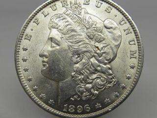 1896-P US Morgan Silver Dollar