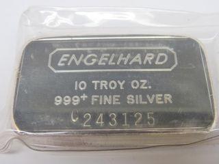 10 Troy Ounce Engelhard Silver Bar