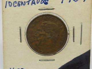 1959 Mexico 10 Centavos Coin