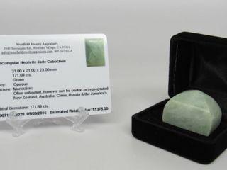 171.69 ct Nephrite Jade Gemstone *Appraisal*