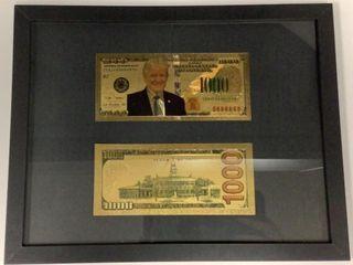 Framed Commemorative Trump Bills