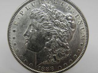 1888-P US Morgan Silver Dollar