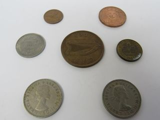 (7) Assorted Coins