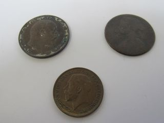 (3) United Kingdom Assorted Coins
