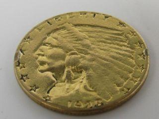 1928 Indian Head $2.50 Gold Quarter Eagle Estate