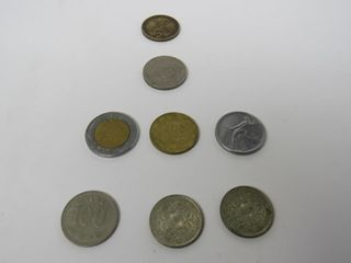 (8) Assorted Coins