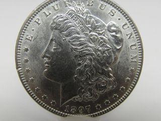 1897-P US Morgan Silver Dollar