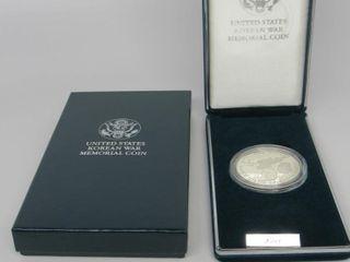 1991-P US Korean War Memorial $1 Silver Proof Set