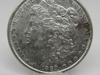1889-P US Morgan Silver Dollar