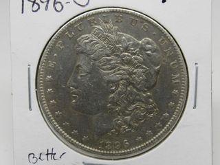 1896-O US Morgan Silver Dollar