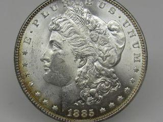 1885-P US Morgan Silver Dollar