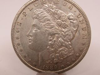 1889-S US Morgan Silver Dollar