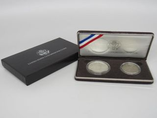 1989 US 2 Coin Silver Proof Set