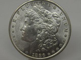 1886-P US Morgan Silver Dollar