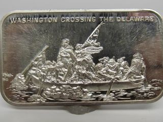 USC oz.999 Silver Bar Washington Crossing Delaware