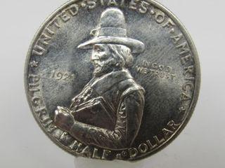 1921-P US Half Dollar Pilgrim Tercentennial