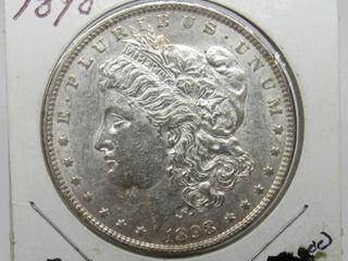 1898-P US Morgan Silver Dollar