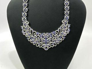 23.54 cts Diamond / Tanzanite Necklace *Appraisal*