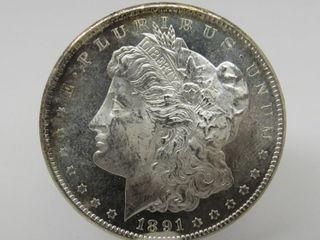 1891-S US Morgan Silver Dollar