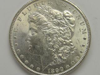 1890-P US Morgan Silver Dollar