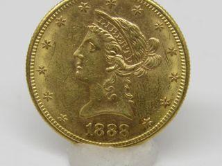 1888-S US $10 Gold Liberty Head Eagle Coin