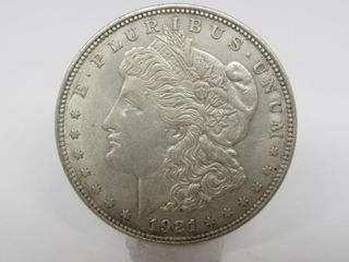 1921-D US Morgan Silver Dollar