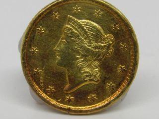1851 Type 1 Liberty Head $1 Gold Estate Coin