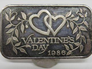 Madison Mint 1oz .999 Silver Valentines Day Bar