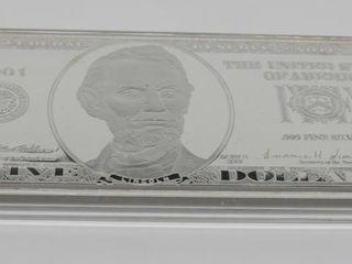 US $5 Silver Bar