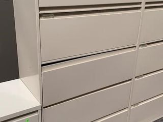 4 Drawer 1 Door Lateral File Cabinet 36x18x65