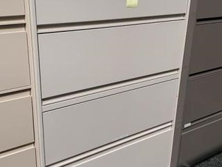 3 Drawer 1 Door Lateral File Cabinet 42x18x65