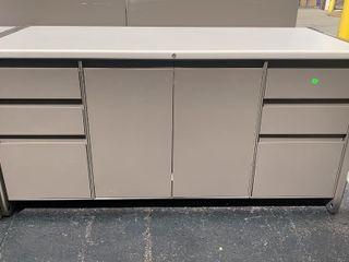 6 Drawer 2 Door Locking Cabinet 60x25x30