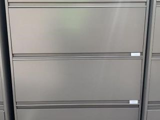 3 Doors 1 Drawer Lateral File Cabinet 42x18x65