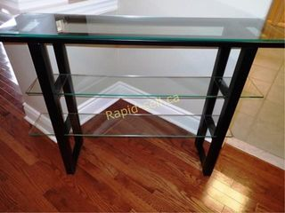 Glass & Metal Occasional Table