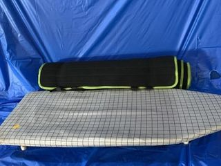 Mini ironing board and an exercise mat