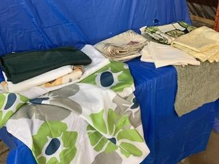 Shower curtain, table cloths, and miscellaneous