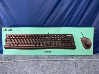 Unused Logitech MK120 mouse & keyboard