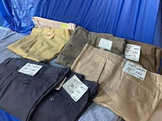 Five pair of unused pants size 38, 39, 40, 42,