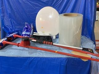Pair of unused tri-active scrubbers, mop head,