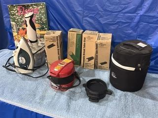 Electric iron, bread tubes, ice cream maker etc