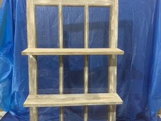 Vintage window comes with shelf hand crafted