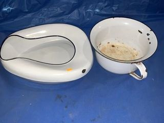 Bedpan and a bed pot