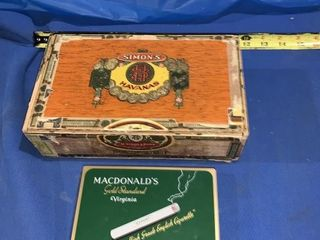 Simmons Havana?s cigar box and McDonald?s