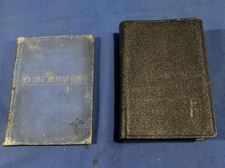 Swedish Bible and an 1899 Swedish book