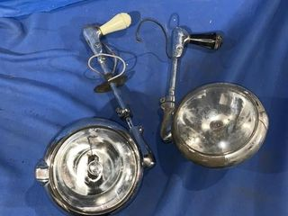 2 vintage police car spotlights