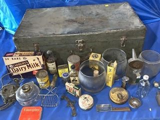 Vintage suitcase comes with a quantity of