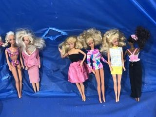 Two 1966 Mattel Barbie dolls made in China and